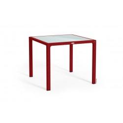 Lechuza stůl Cottage malý sklo červená