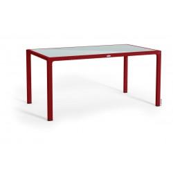 Lechuza stůl Cottage velký sklo červená